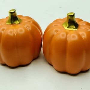"Pumpkin Figurines 3.5×3"" Ceramic Orange Home Decor"